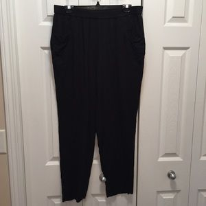 Kenzie Black 100% Rayon Pants with Pockets